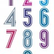 Funky retro stripes numbers set. — Stock Vector #51747921