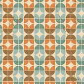 Viejo fondo transparente de azulejos, patrón de estilo retro vector. — Vector de stock