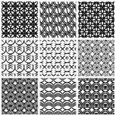 Set di schemi geometrici senza soluzione di continuità. — Vettoriale Stock