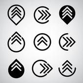 Arrow symbols vector set. — Stock Vector
