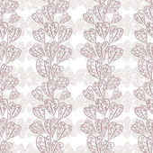 Seamless fall leaves pattern, floral wallpaper, hand drawn, vect — Stock Vector