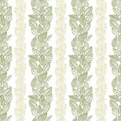 Seamless leaves pattern, floral wallpaper, hand drawn, vector. — Stock Vector