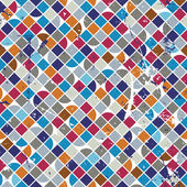 Old scratched and spotted mosaic seamless background, vector ret — Stock Vector