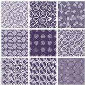 Monochrome violet retro style tiles. — Stock Vector