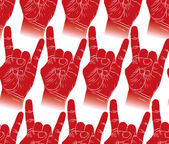 Rock padrão sem emenda de mãos, rock, metal, rock and roll music st — Vetorial Stock