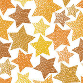 Golden stars seamless pattern, vector repeating background with  — Stock Vector