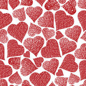 Love theme seamless background, hearts seamless pattern, vector, — Stock Vector