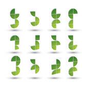 Abstract 3d geometric simplistic symbols set, vector abstract ic — Stock Vector