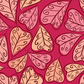 Autumn leaves seamless pattern, floral vector seamless backgroun — Stock Vector