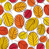 Floral vector seamless pattern, autumn leaves seamless backgroun — Stock Vector