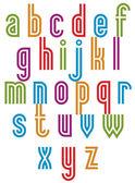 Double line retro style trendy font. — Stock Vector