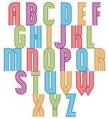 Retro style stripe trendy font. — Stock Vector