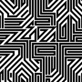 Abstract circuit board black and white seamless pattern. — ストックベクタ