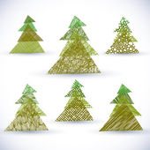 Christmass tree vector set. — Stock Vector