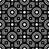 Seamless black and white geometric pattern, simple vector backgr — Stock Vector
