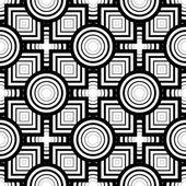 Dikişsiz siyah beyaz geometrik desen, basit vektör backgr — Stok Vektör