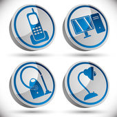 Household appliances icons set 1. — Vettoriale Stock