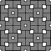 Sem costura padrão preto e branco, simples vector listras geometri — Vetor de Stock