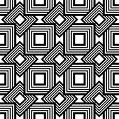黒と白のシームレスなパターン、単純なベクトル縞要約 — ストックベクタ