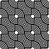 Seamless geometric pattern, simple vector black and white stripe — Vettoriale Stock