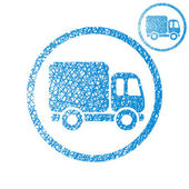 Delivery car small truck vector simple single color icon isolate — Stock Vector