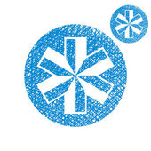 Blue-white snowflake vector simple single color icon isolated on — Stock Vector