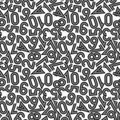 Vektorové ilustrace z bezešvé pattern s čísly. — Stock vektor
