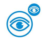 Icono de color único simple vector ojo aislado sobre fondo blanco — Vector de stock