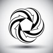 Five arrows loop conceptual icon, special abstract new idea vect — Stock Vector