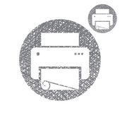 Printer vector simple single color icon isolated on white backgr — Stock Vector