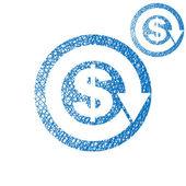 Dinheiro circulação troca economia conceito vetor simples single — Vetor de Stock