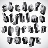 3d geometric bold font. — Stock Vector