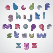 Halftone print dots textured stylish modern font. — Stock Vector
