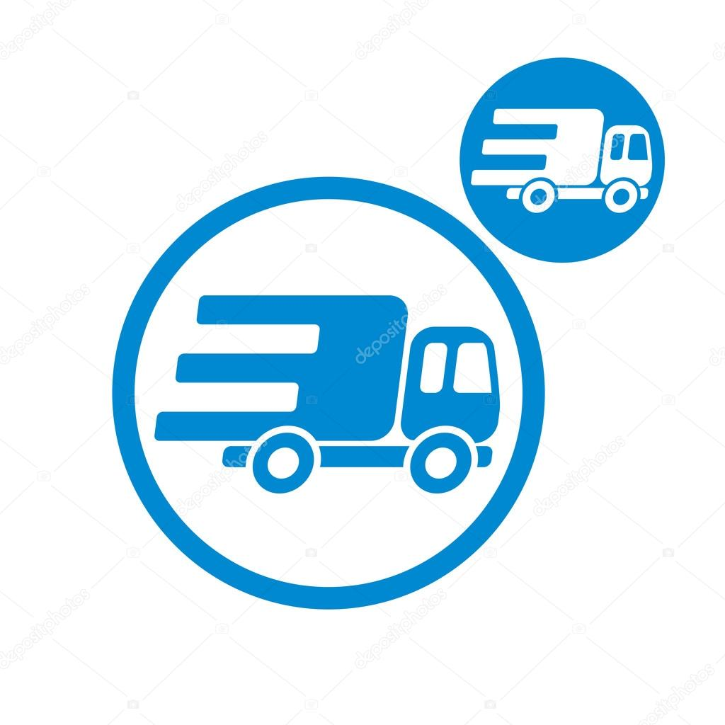 Delivery car small truck vector simple single color icon for Simple single