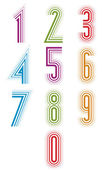 Echo lined numbers vector set. — Stock Vector