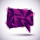 Violet rede blase geometrische symbol gemacht in 3d moderner stil, bes — Stockvektor
