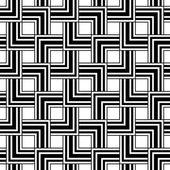 Seamless geometric pattern, black and white simple vector backgr — Stok Vektör