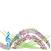 Music notes background, stylish musical theme composition, vecto — Stock Vector