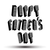 Happy Fathers Day greeting card with phrase made with 3d retr — Stock Vector