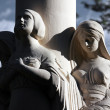 Three women as a symbol of time: past, present and future - Stockfoto