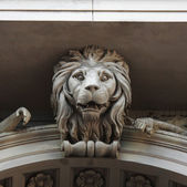 Sculpture of a lion as a symbol of strength and greatness — Stock Photo