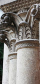 Ancient columns in Corinthian style — Foto Stock