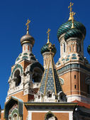 Facade of orthodox church — Stockfoto