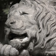 Sculpture of a lion as a symbol of  greatness — Stock Photo