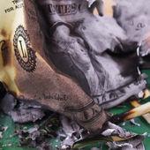 Burning dollar bill — Stock Photo