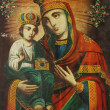 Art icon of Virgin Mary and Jesus Christ (19th Century, Ukraine) — Stock Photo #25865573