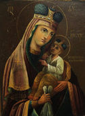 Art icon of Virgin Mary and Jesus Christ (17th Century, Ukraine) — Stock Photo
