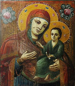 Art icon of Virgin Mary and Jesus Christ — Стоковое фото