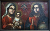 Art icon of Virgin Mary, Jesus Christ — Stock Photo