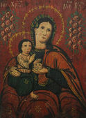 Art icon of Virgin Mary and Jesus Christ (18th Century, Ukraine) — Stock Photo
